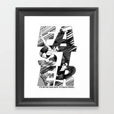 Faster II Framed Art Print
