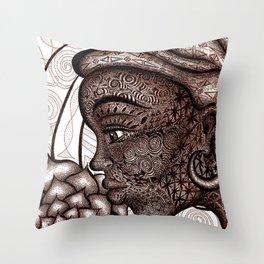 Wisdom Keeper Brown #23 (Simplicity) Throw Pillow