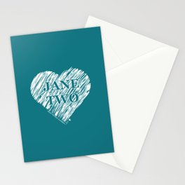 Heart Jane Two Stationery Cards