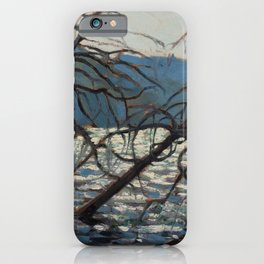 Tom Thomson - Canoe Lake, Spring - Canada, Canadian Oil Painting - Group of Seven iPhone Case