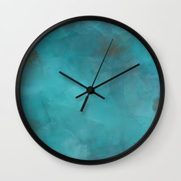 Turquoise Gems Wall Clock