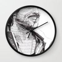 snatch Wall Clocks featuring Mickey by Rik Reimert
