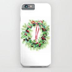 Christmas wreath iPhone 6s Slim Case