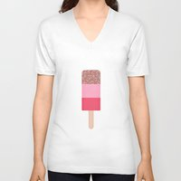 sprinkles V-neck T-shirts featuring Icecream Sprinkles  by Lidja Print