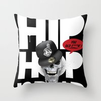 hiphop Throw Pillows featuring HipHop is Dead... by Frankie White
