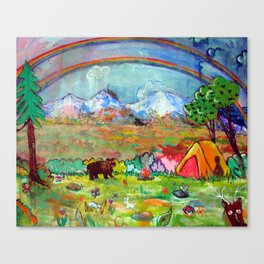 'Whoa!, A Double Rainbow (What does it mean?)' Canvas Print