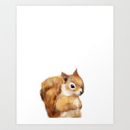 Little Squirrel Art Print