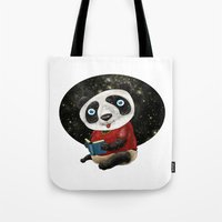 red panda Tote Bags featuring Panda by gunberk