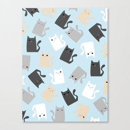 Scattercats Canvas Print