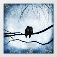 lovers Canvas Prints featuring Lovers by SensualPatterns