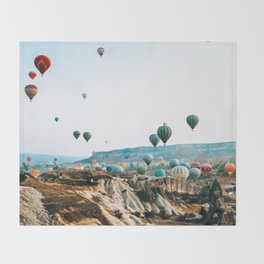 Hot Air Rises | Cappadocia, Turkey Throw Blanket