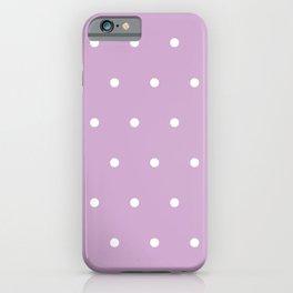 Polka Dots Lavender Lilac Purple iPhone Case