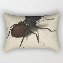 Albrecht Durer - Stag Beetle Rectangular Pillow