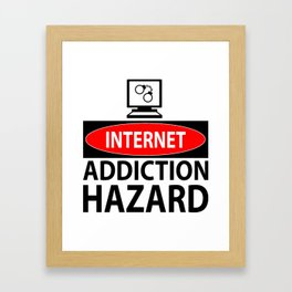 Internet – addiction hazard Framed Art Print