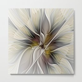 Floral Abstract, Fractal Art Metal Print