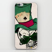 poker iPhone & iPod Skins featuring Poker Face by Ewan Arnolda
