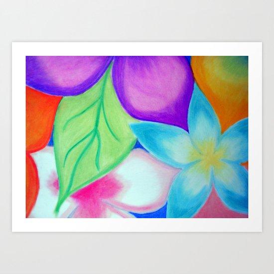 Friggin Flowerz Art Print