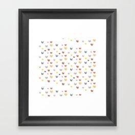Cat Family for J&K #5 (Slanted Cats) Framed Art Print