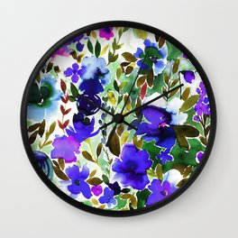Evie Floral Olive Wall Clock