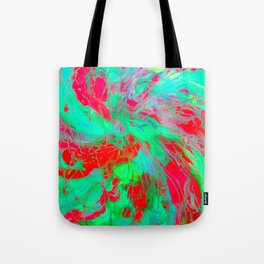 Red And Green Spin Tote Bag