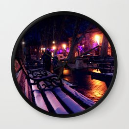 Winter street Wall Clock
