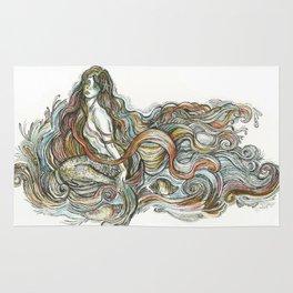 """Little Mermaid"" - by Fanitsa Petrou Rug"