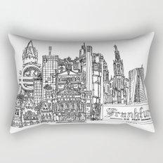 Busy City – Frankfurt am Main Rectangular Pillow