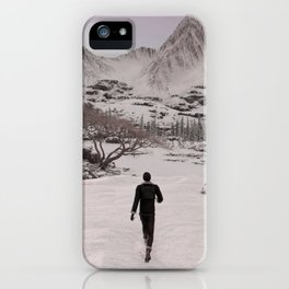 Final Fantasy XV - Prompto walking in the Snow iPhone Case