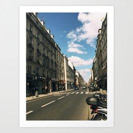 Sunny Day in Le Marais Art Print