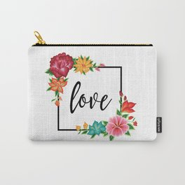 Floral Love II. Carry-All Pouch