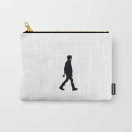 The Winter Man (Black and White) Carry-All Pouch