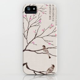 Chinese Painting -Spring (Birds) Plum Blossom  iPhone Case