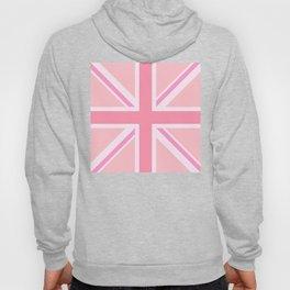 Pink Union Jack/Flag Design Hoody