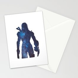 Mass effect - Space , Female Shepard  Stationery Cards