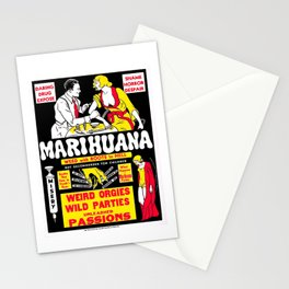 Marijuana Poster (Reefer Madness) Stationery Cards