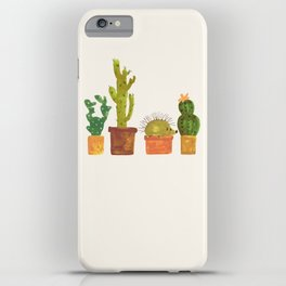 Hedgehog and Cactus (incognito) iPhone Case