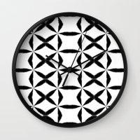 xoxo Wall Clocks featuring XOXO by Julie Maxwell
