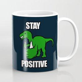 Stay Positive Iguanodon Coffee Mug