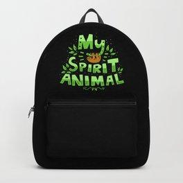My Spirit Animal | Sloth Lazy Backpack