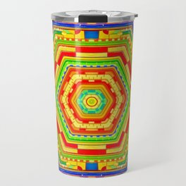 Stained Glass Kaleidoscope Travel Mug