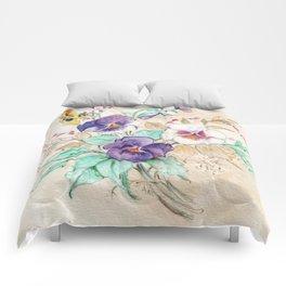 Pansies Bouquet Comforters