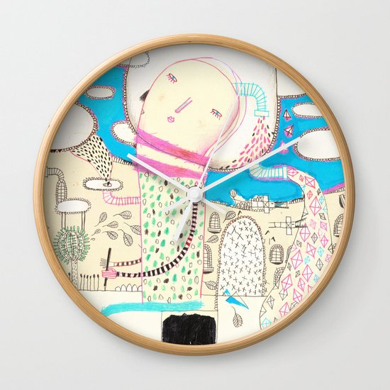 Be led by your dreams Wall Clock
