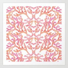 Coral Reef Pattern Art Print