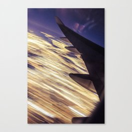 Los Angeles Lights (From a 747/Long Exposure) Canvas Print
