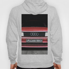 FRONT VIEW OF THE CAR IN RED IN A DEEP COMPOSITION Hoody