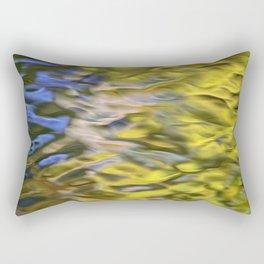 Mojave Gold Mosaic Abstract Art Rectangular Pillow
