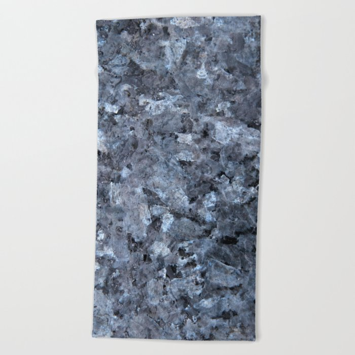 ff26ab294 Blue Pearl Granite #1 #decor #stone #art #society6 Beach Towel by  anitabellajantz