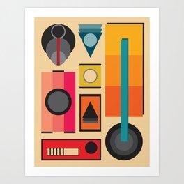 Modern Retro Design Art Print