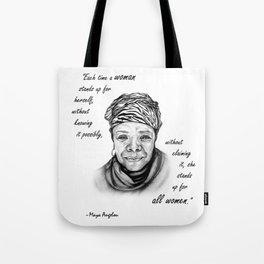 Feminist Art Maya Angelou Quote Tote Bag