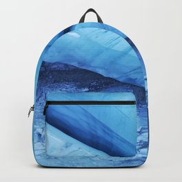 Blue ice of Blackcomb Glacier Ice Cave Backpack